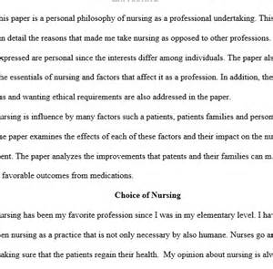 Nursing Philosophy Essay by Personal Philosophy On Nursing Regent Essays