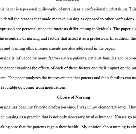 Personal Philosophy Of Nursing College Essay by Personal Philosophy On Nursing Regent Essays