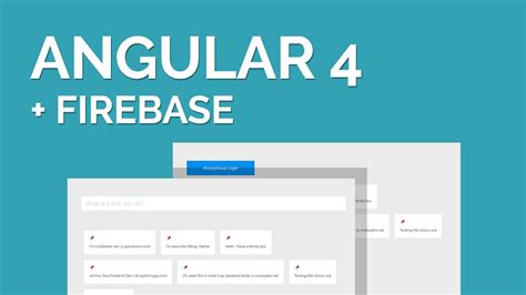 Firebase Tutorial Angular | a easy angular four firebase tutorial free learning online