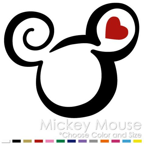 mickey mouse tribal tattoo tribal mickey minnie mouse two color disney vinyl