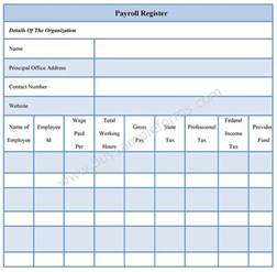 employee payroll forms template payroll register forms payroll register template