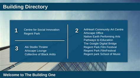 building directory template professional digital signage templates signagecreator
