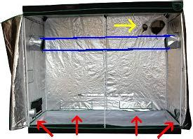 intake fan for grow tent exhaust setup for an 8 x 8 grow room tent