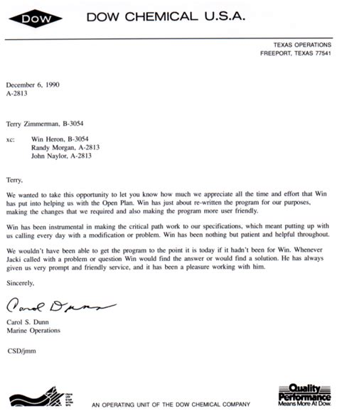 appreciation letter sle project completion consulting firm dallas tx