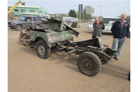 1952 land rover series 1 rolling chassis reg no kmj 99