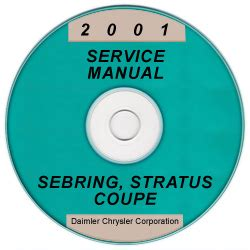free auto repair manuals 2001 chrysler sebring auto manual 2001 chrysler sebring and dodge stratus coupe service manual cd rom