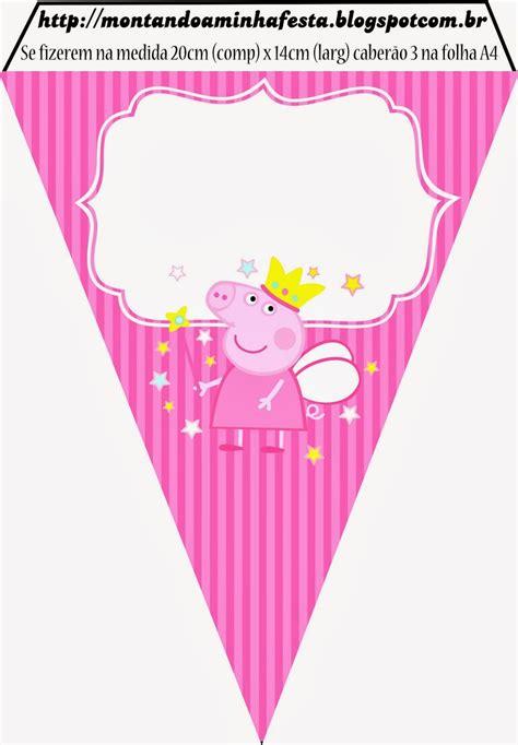 free printable birthday banner peppa pig peppa pig fairy invitations and free party printables