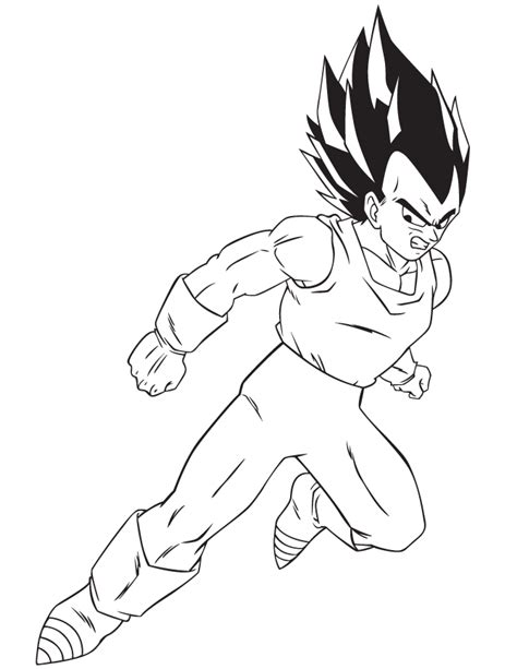 dragon ball character coloring page h m coloring pages cartoon dragon ball z vegeta coloring page h m