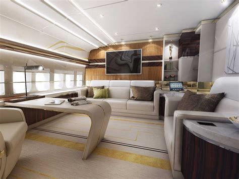 coming home interiors this private plane is a luxurious dream come true