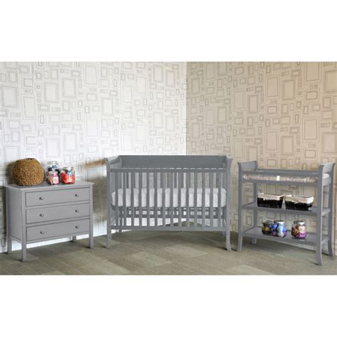 Baby Mod Ava 4 Piece Nursery Set Gray Walmart Com Grey Nursery Furniture Set