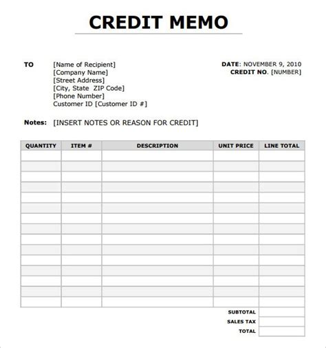 Credit Note Format Excel Sheet 8 Best Images Of Credit Memo Sle Format Credit Memo