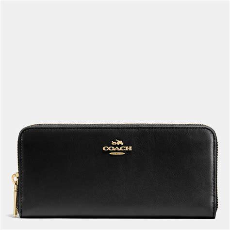Coach Slim Wallet 1 coach slim accordion zip wallet in smooth leather wallets handbags accessories shop the