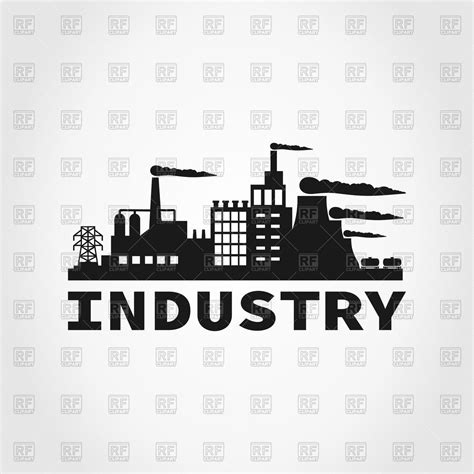 The New Small House factory icon royalty free vector clip art image 79962