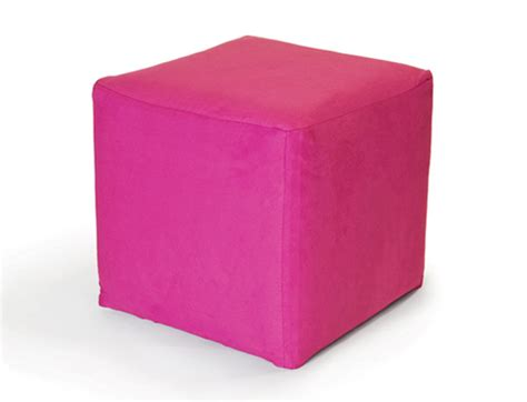 cube ottoman pink high style
