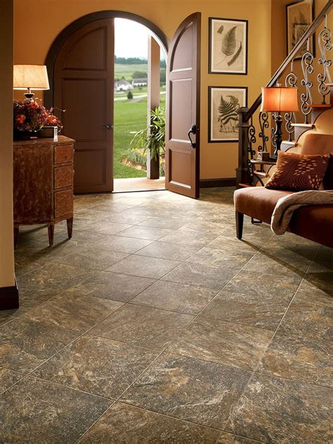 Armstrong Luxury Vinyl Tile Lvt Brown Stone