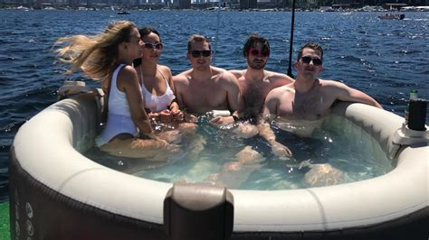 floating hot tub next level alert you can rent a floating hot tub on lake union seattle refined