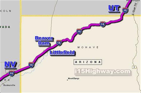 arizona highway conditions map i 15 arizona traffic maps