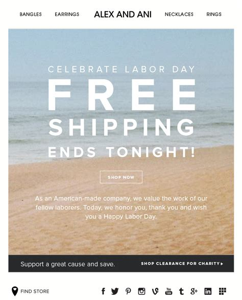 Alex Ani Labor Day Sale Subject Line Last Chance For Weekend Savings Email Misc Holiday Last Chance Email Template