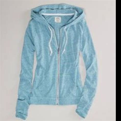 eagles light up sweater light blue zip up hoodie trendy clothes