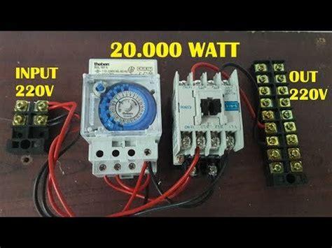 Alat Ukur 3 Phasa panduan cara pasang timer ke kontaktor