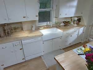 install an apron front sink in a butcher block countertop
