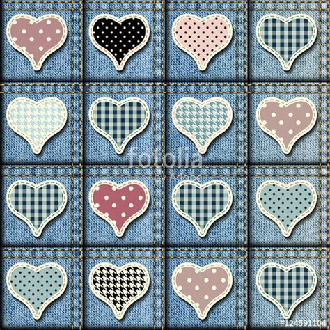 Denim Patchwork Fabric - quot patchwork of denim fabric quot stock image and royalty free