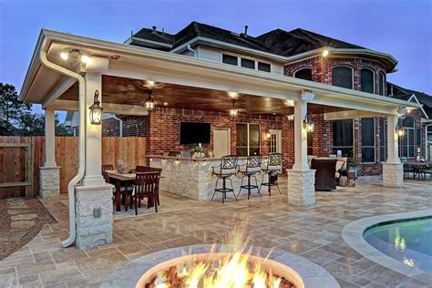 backyard off friendswood outdoor living space texas custom patios