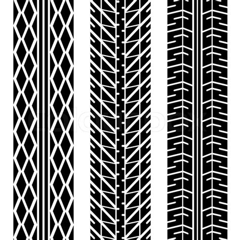 tire pattern ai three different tire tread patterns in black and white