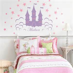 princess castle wall sticker fairy princess castle personalized vinyl wall decal for