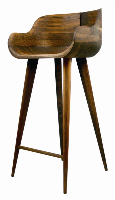 Wood Counter Stools by Walnut Counter Stool So Sleek For The Home