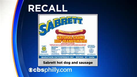 sabrett recall sabrett dogs recalled after customers find bones inside alert