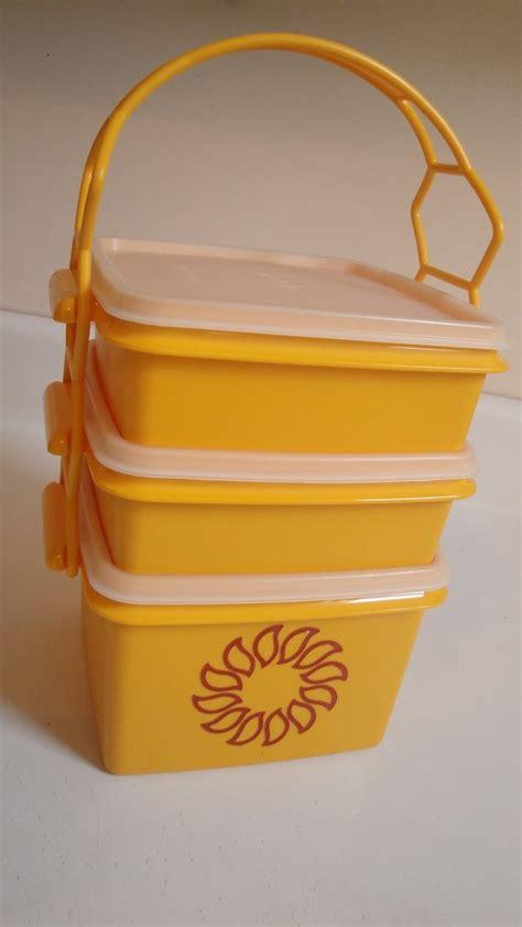 Tupperware Picnic Set vintage tupperware picnic set starburst orange best