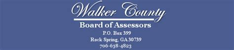 Walker County Ga Property Tax Records Walker County Tax Assessors