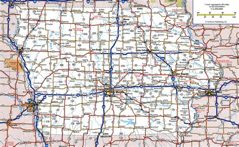 iowa state map large detailed roads and highways map of iowa state with all cities vidiani maps of all