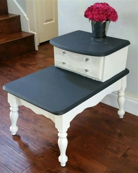 two tier end table best 25 refinished end tables ideas on