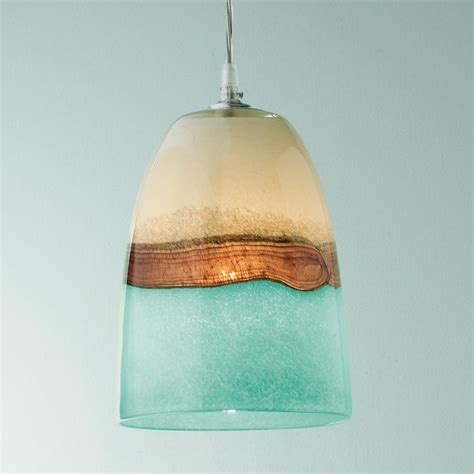 Sea Glass Pendant Lighting Strata Glass Pendant Light Earth Sea And Clouds Seem To Unite In This Brown Aqua And