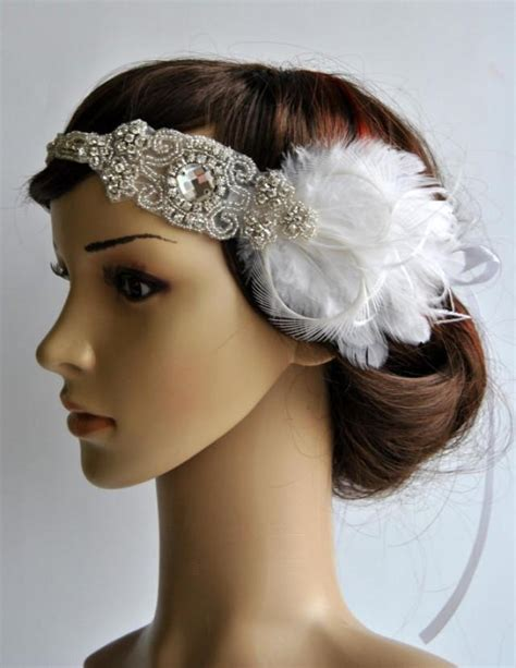 how to make a 1920s hairpiece 1920s rhinestone headpiece bridal hair piece 1920 s head