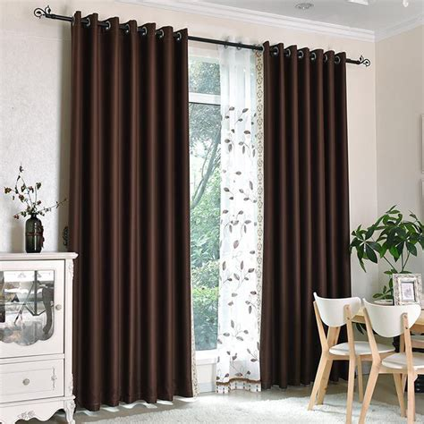 bedroom curtains on sale dark coffee print polyester custom blackout curtains for