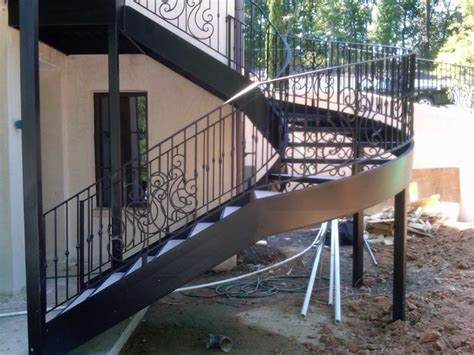 Outdoor Metal Stairs Spiral Staircase Metal Stairs Contemporary Staircase