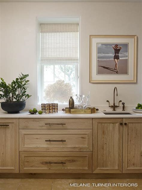 kitchen  light stained oak cabinets  drawers