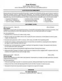 Sample Resume For Store Manager sample retail store manager resume