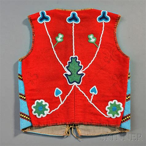 beaded vest blackfoot beaded cloth vest sale number 2879b lot