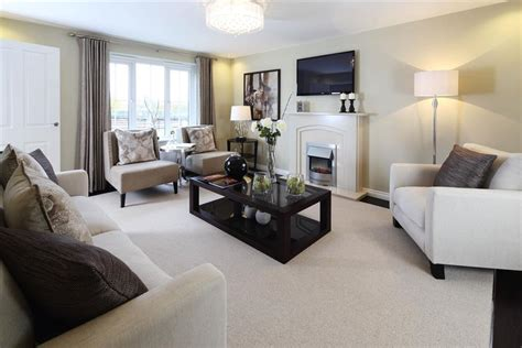 Living Room Show Homes by New Homes In Winsford Wimpey
