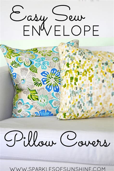 How To Make Envelope Pillow Covers by Easy Sew Envelope Pillow Covers Sparkles Of