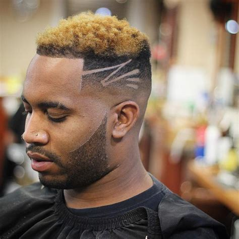 black guy with gold strip in his hairstyle pictures 70 best haircut designs for stylish men 2018 ideas