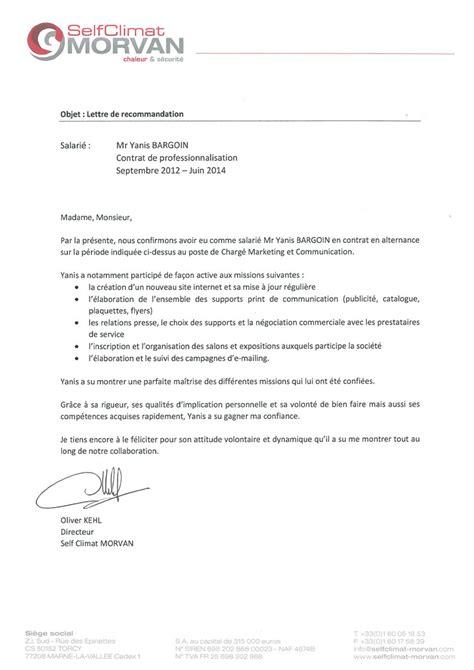 Demande De Lettre De Recommandation ã Employeur Modele Lettre De Recommandation Ancien Employeur Document