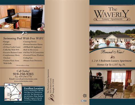 apartment tri fold brochure sles
