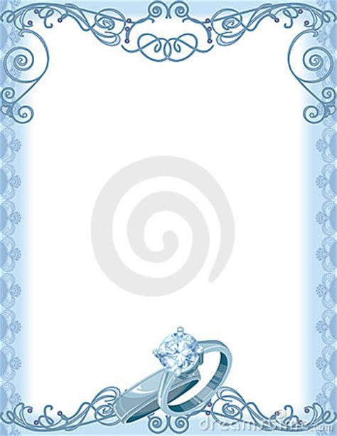 Wedding Borders With Rings by Royalty Free Stock Photography Wedding Ring Border Image