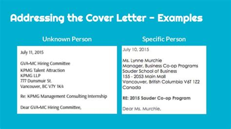 Business Letter Unknown Gender When Writing A Cover Letter To Unknown Person