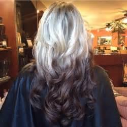 Brown reverse ombr 233 hair pinterest